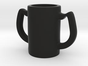 Two handles mug in Black Natural Versatile Plastic: Medium