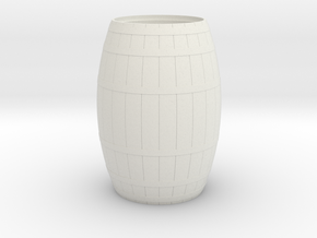 18th Century Barrel-Open (21hx15dia) 1/24 in White Natural Versatile Plastic