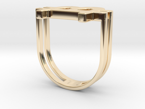 Bitcoin Ring 18 in 14K Yellow Gold