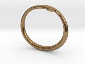 "Bracelet ""Snake"" in Natural Brass: Small"