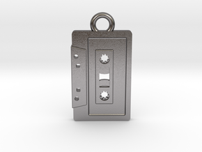 Cassette Tape Pendant 2 in Polished Nickel Steel