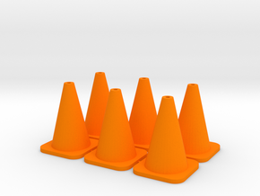 Traffic Cone - 6 in Orange Strong & Flexible Polished