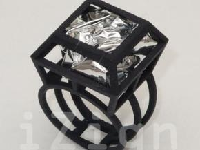 ring06 21 in Black Natural Versatile Plastic