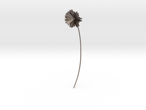 Daisy earring in Polished Bronzed Silver Steel