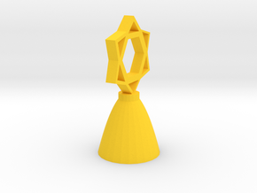 Star of David Tree Topper in Yellow Processed Versatile Plastic