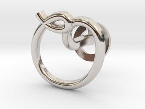 Cursive O Cufflink in Rhodium Plated Brass