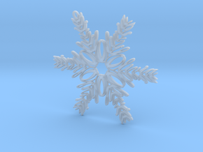 Olivia snowflake ornament in Smooth Fine Detail Plastic