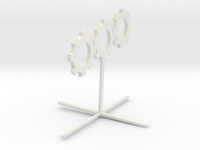 Sprocket_Sculpture in White Natural Versatile Plastic