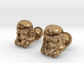 Stormtrooper Cufflinks in Polished Brass