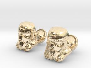 Stormtrooper Cufflinks in 14k Gold Plated Brass