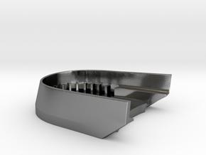 BoostedBoardV2_skid_plate in Polished Silver