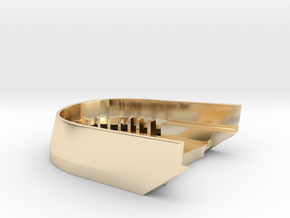BoostedBoardV2_skid_plate in 14K Yellow Gold
