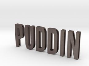 Sliding Letters - PUDDIN Bundle in Polished Bronzed Silver Steel