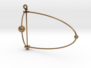 Pluto & Charon mobile in Natural Brass (Interlocking Parts)