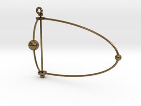 Pluto & Charon mobile in Natural Bronze (Interlocking Parts)