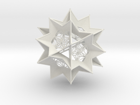 Starburst Ornament in White Natural Versatile Plastic