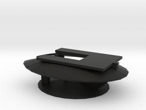 LANDSCAPE LIGHTING - SHROUD - SNAIL - LOW UNDER RA in Black Natural Versatile Plastic