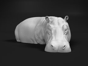 Hippopotamus 1:64 Standing in Water in Smooth Fine Detail Plastic