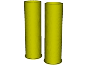 1/6 scale Howitzer 105mm cartridge M14 cases x 2 in Smooth Fine Detail Plastic