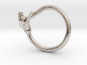 Snake Ring in Rhodium Plated Brass