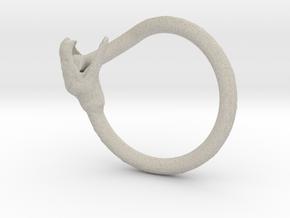 Snake Ring in Natural Sandstone
