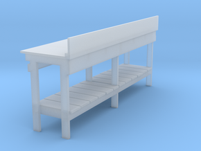 O scale 1:48 workbench (no drawers) in Smoothest Fine Detail Plastic
