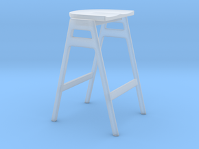 Miniature Svelto Stacking Barstool - Ercol in Smooth Fine Detail Plastic: 1:12