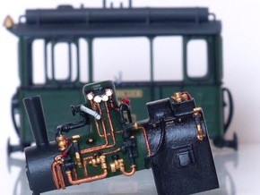 Boiler Henschel steam tram or train 1:87 in Frosted Ultra Detail