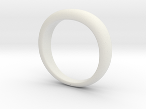 Club Harley Star Ring (BAND ONLY) in White Natural Versatile Plastic: 7 / 54