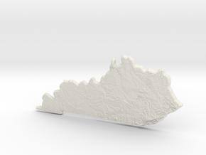 Kentucky Christmas Ornament in White Strong & Flexible