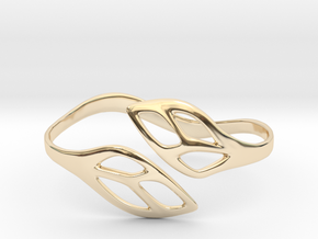 FLOS Bracelet. Smooth Elegance. in 14K Yellow Gold: Extra Small
