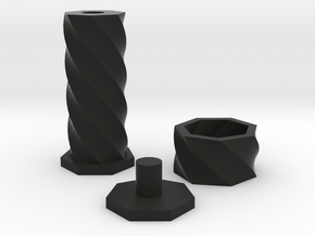 Fidget Twister in Black Natural Versatile Plastic