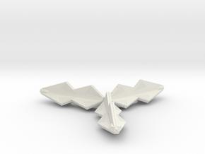 3788 Scale Tholian War Cruiser Pinwheel SRZ in White Natural Versatile Plastic