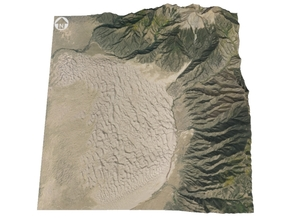 "Great Sand Dunes National Park Map: 6""x6"" in Glossy Full Color Sandstone"