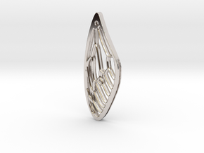 Cicada Wing Pendant - Outside in Platinum
