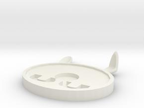 Coaster 2 in White Natural Versatile Plastic: Medium