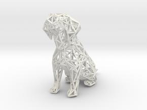 Beagle Dog Wire Frame in White Natural Versatile Plastic