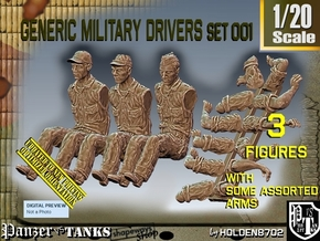 1-20 Military Drivers Set001 in White Natural Versatile Plastic