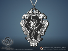 """""""Tainted Love"""" Rose Pendant in Frosted Extreme Detail"""
