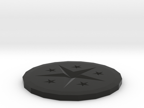 Coaster in Black Natural Versatile Plastic: Medium