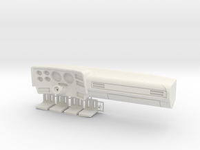 K5 Chevy Dashboard (Vaterra Asender) in White Natural Versatile Plastic