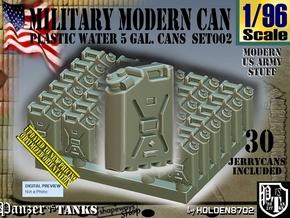 1/96 Modern Military WATER Can Set002 in Smooth Fine Detail Plastic