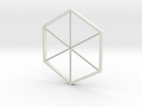Tour dés proto - base01 in White Natural Versatile Plastic