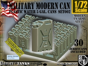 1/72 Modern Military WATER Can Set002 in Smooth Fine Detail Plastic