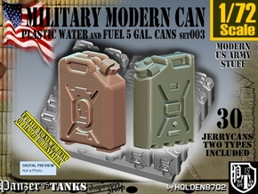 1/72 Modern Military FUEL+WATER Can Set003 in Smooth Fine Detail Plastic