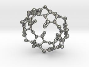 Cucurbituril CB[6] Molecule Pendant Small in Polished Silver