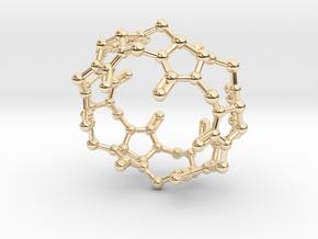 Cucurbituril CB[6] Molecule Pendant Small in 14k Gold Plated Brass