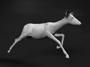 Impala 1:12 Running Female in White Natural Versatile Plastic