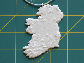 Ireland Christmas Ornament in White Natural Versatile Plastic