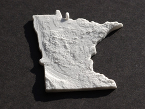 Minnesota Christmas Ornament in White Natural Versatile Plastic